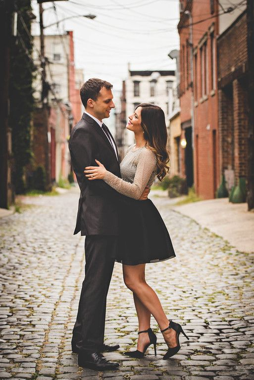 Engagement Shoot Styling in Hoboken NJ by fashion stylist Tiffany Piñero