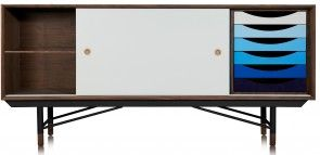 This Finn Juhl sideboard is perfect from any home/office looking to add a splash of stylish colour into their decor with a retro twist.