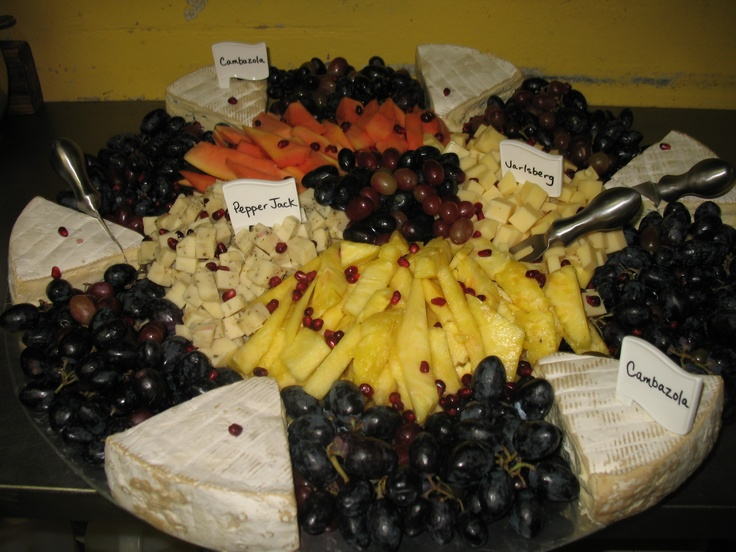 Giant fruit and cheese platter