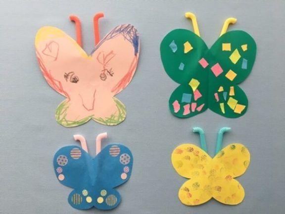 ちょうちょ製作 幼稚園の子供でも簡単に楽しく作れる壁面飾り ココシレル 春の飾り付け 幼稚園の工作 ちょうちょ