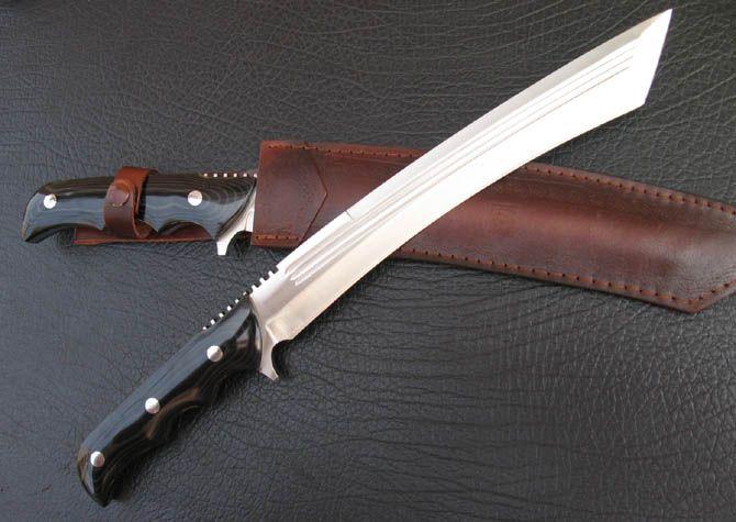 NuMade Big Tanto-Long Custom Bowie kniv handgjord kniv, Kanada knivar och svärd