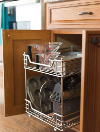 Kitchen Tip: Dedicate one kitchen cabinet as a mini baking center and you'll never again have to hunt for that stray measuring cup.