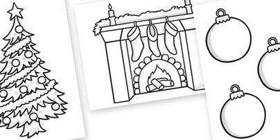 Christmas Colouring Sheets #twinkl #primary #teaching # ...