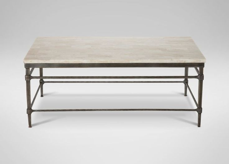 Vida Large Stone Top Coffee Table | Coffee Tables | Ethan Allen