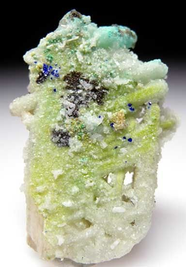 Cerussite with Azurite from Tsumeb, Namibia / Mineral Friends <3