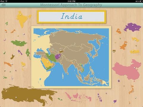Montessori Geography iPad app by Mobile Montessori