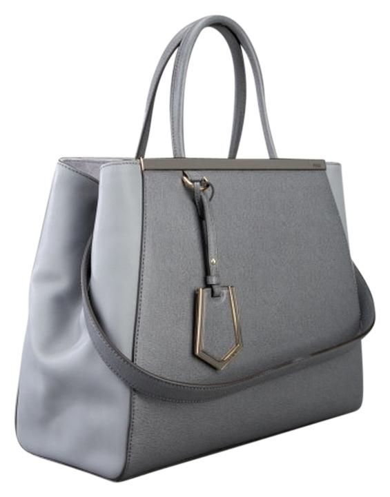 Fendi 2jours Elite Medium Leather Grey Tote Bag. Get one of the hottest styles of the season! The Fendi 2jours Elite Medium Leather Grey Tote Bag is a top 10 member favorite on Tradesy. Save on yours before they're sold out!