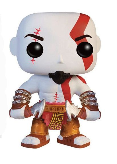 God of War POP! Vinyl Figur Kratos 10 cm   Coole  Kratos   -  POP Figur  aus der beliebten `Game `Gof of War`. - detailierte Mini- Figur, ca. 10 cm - Vinyl ( Kunststoff) - Lieferung in schicker Fensterbox   Ein Muss für jeden Fan! God of War - Hadesflamme - Merchandise - Onlineshop für alles was das (Fan) Herz begehrt!