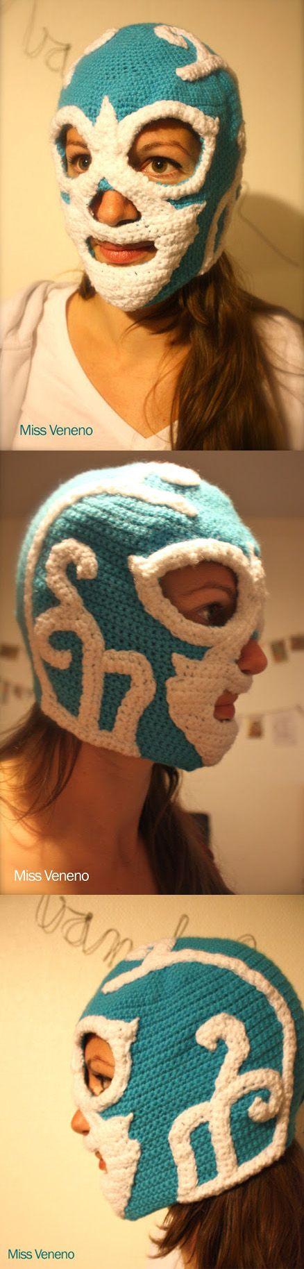 Miss Veneno - Huracan Ramirez -crochet masque lucha libre