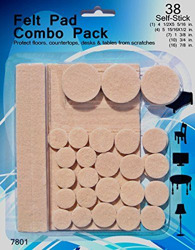 GRS 7801 Felt Pads for Chair Floor Protector, 38 Pack * Click image for more details.