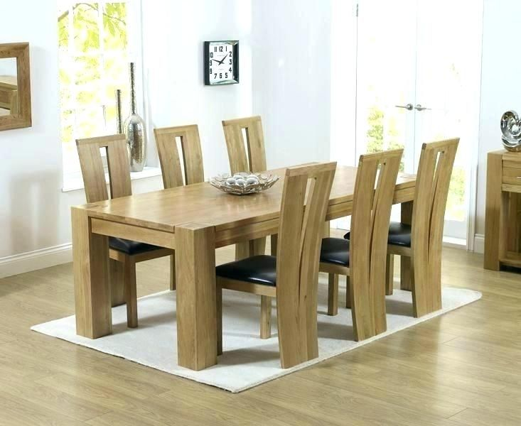 Marvelous Solid Oak Dining Table And 6 Chairs Dining Room Solid Download Free Architecture Designs Embacsunscenecom