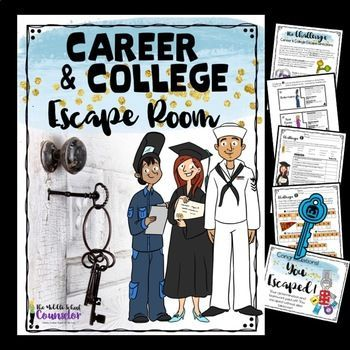 College and Career Awareness Escape Room (Middle a…