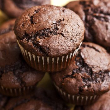 Chocolate Protein Muffins - These Joy Bauer muffins are so tasty! I substituted full fat plain greek yogurt and added a little more vanilla extract-still delicious
