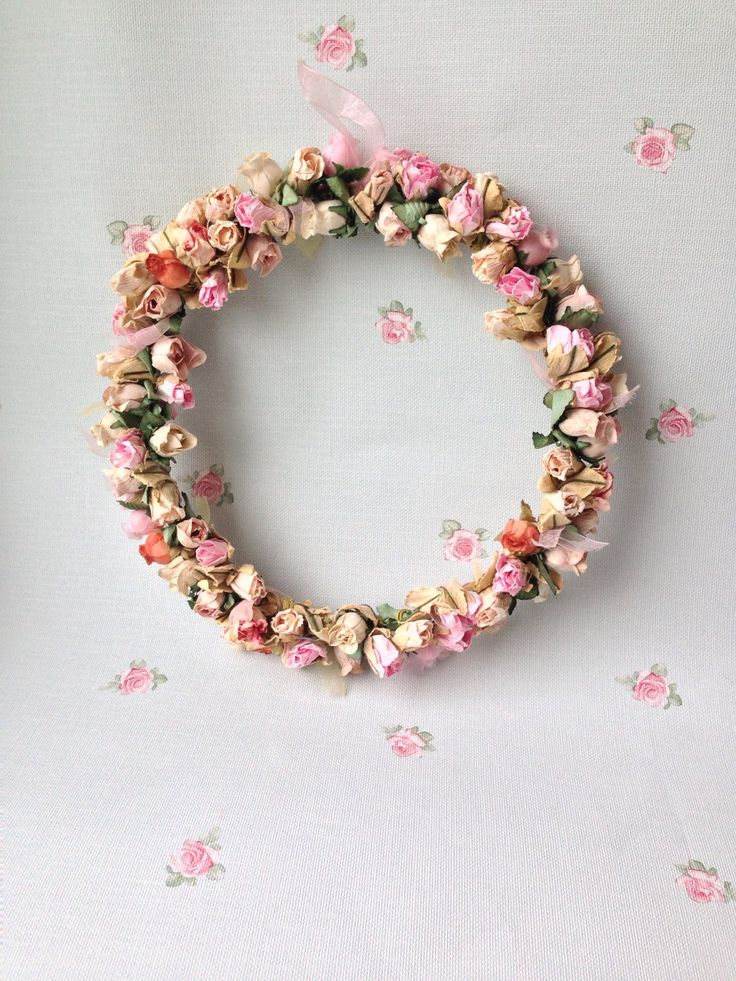 A personal favourite from my Etsy shop https://www.etsy.com/uk/listing/267146297/hanging-flower-wreath-handmade