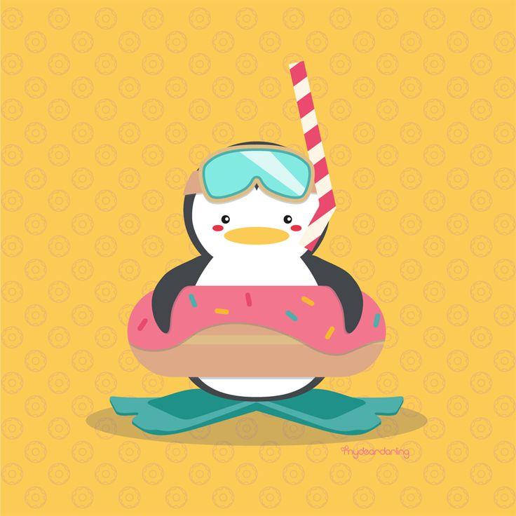 Let's Go Snorkeling #penguin #donut #snorkeling