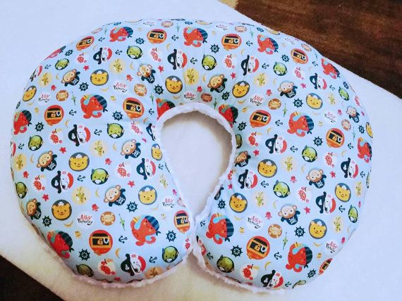 Animal Nursing Pillow : Boy Pirate Boppy Pillow, Nautical Boppy, White Minky Nursing Pillow, Sea Life Baby Decor, White ...