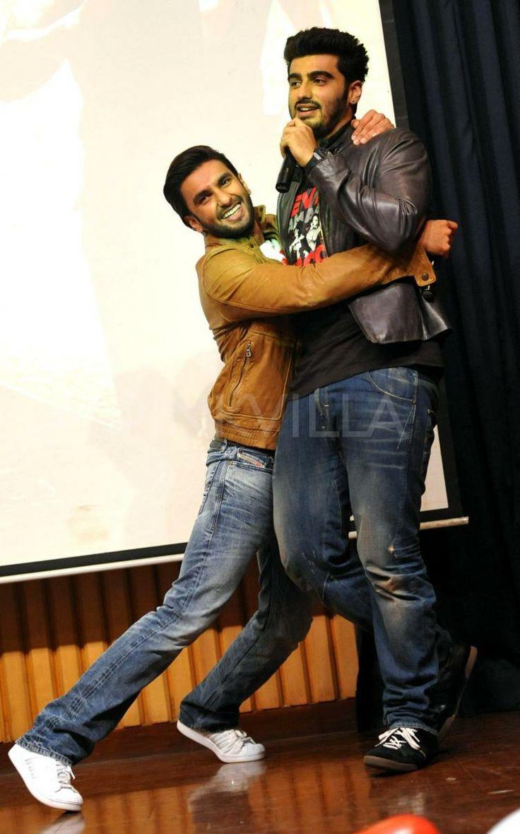 Ranveer Singh and Arjun Kapoor. Me and Anj. Smh.