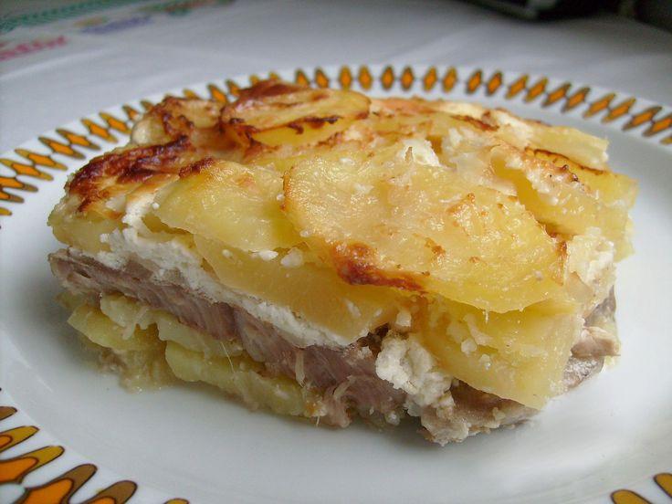 Bajor rétegezett hús krumplival