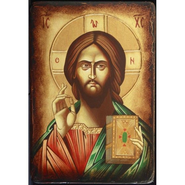 Icoana pe lemn cu Iisus Hristos