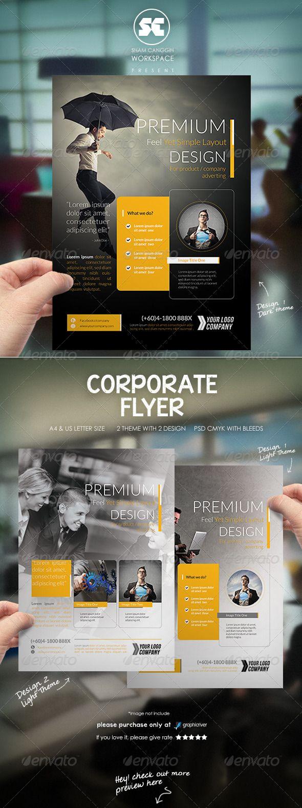 Modern Corporate Flyer / Magazine Ads — Photoshop PSD #problem #product • Av...