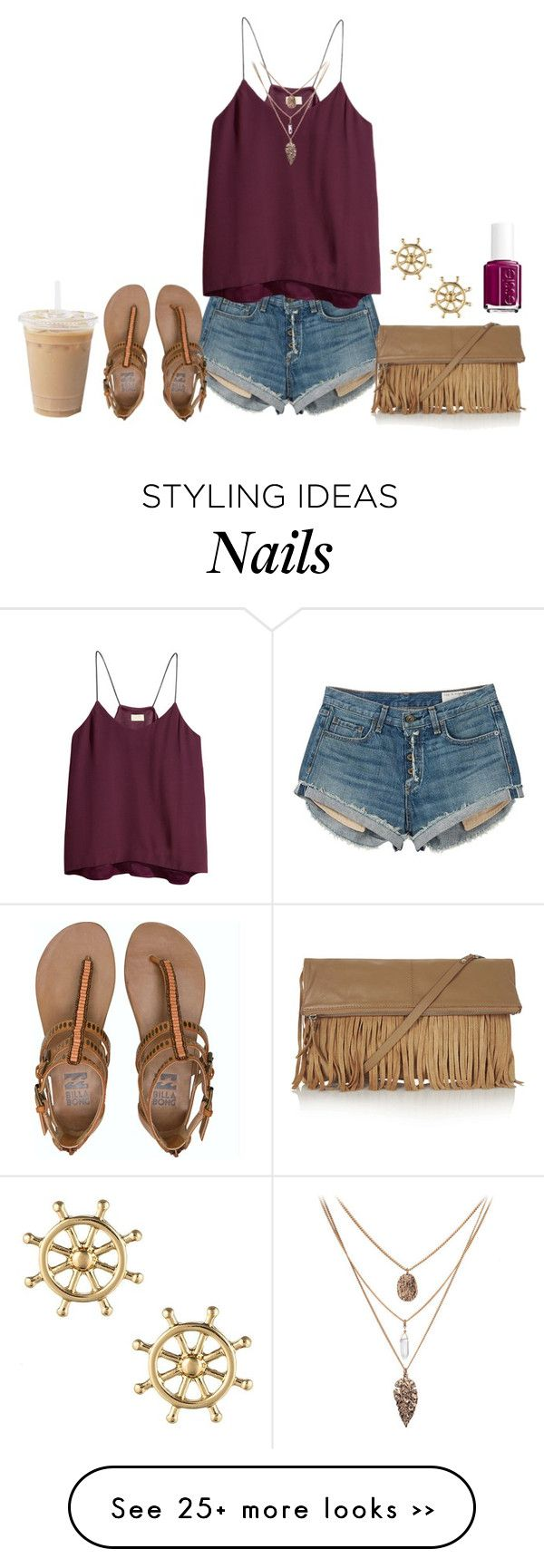 """""""watching one tree hill (aka) BEST show ever!!"""" by madisonelizabethmcguire on Polyvore featuring rag & bone, H&M, Billabong, Sperry Top-Sider, Topshop and Essie"""