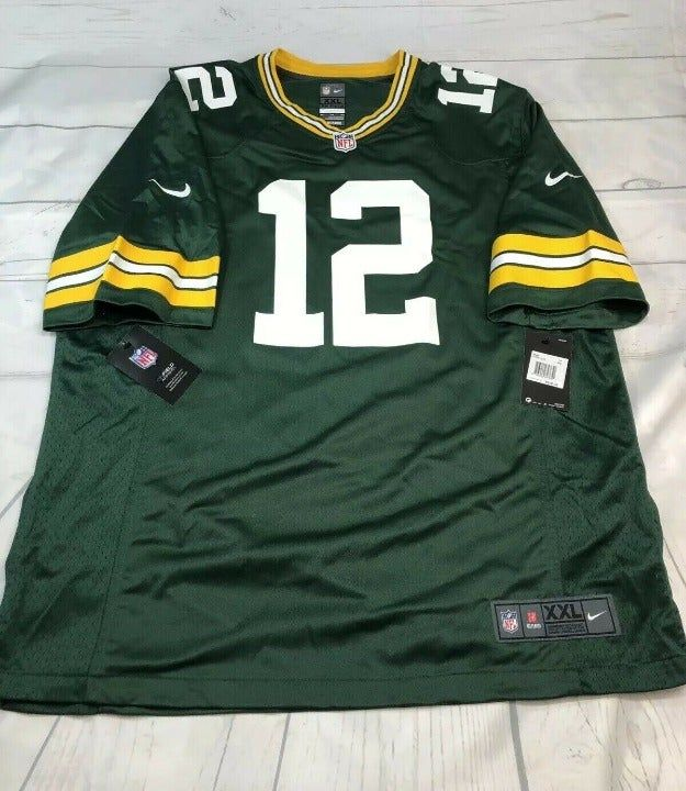 New Mens 2xl Nike Aaron Rodgers Green Bay Packers Home Game Jersey Screenprinted 27 Inches Arm Pit To Arm Pit 33 With Images Rodgers Green Bay Nike Nfl Green Bay Packers