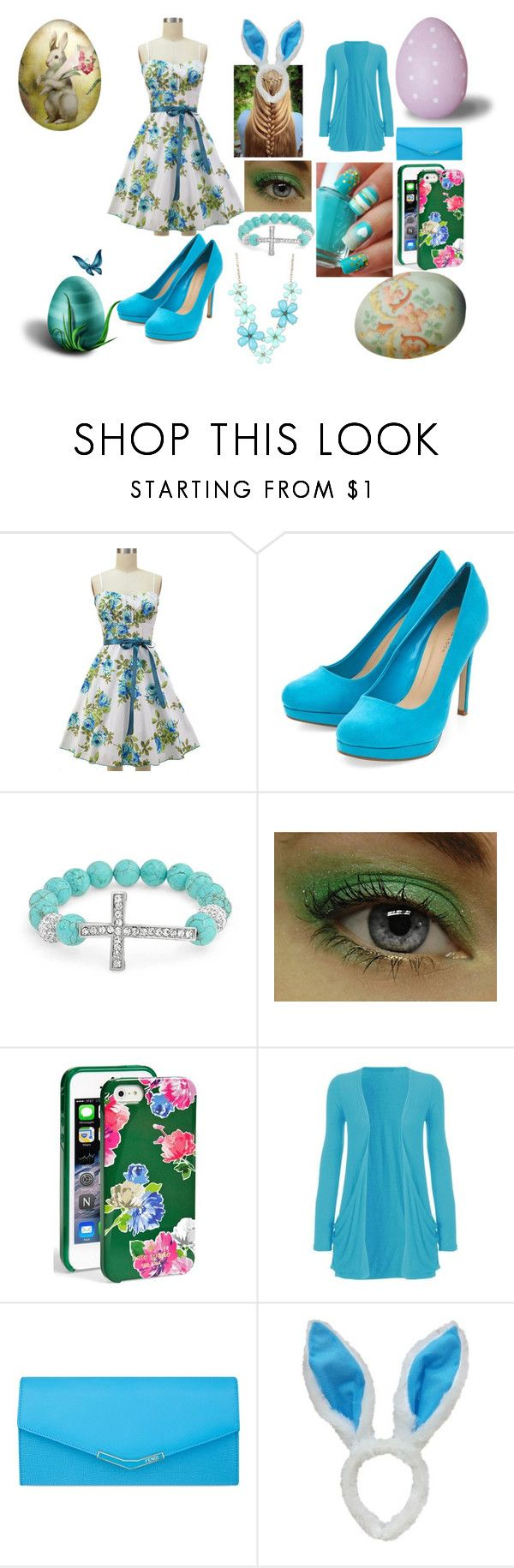 """Happy Easter Sunday!"" by kiara-fleming ❤ liked on Polyvore featuring Bling Jewelry, Kate Spade and Fendi"