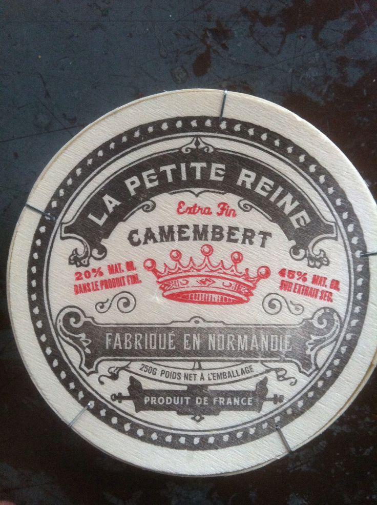 La Petite Reine - Camembert label - two color