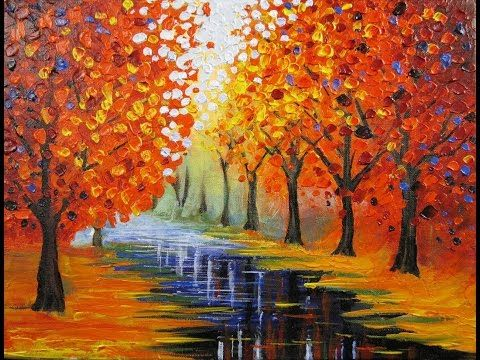 Art Lesson: How to Paint an Easy Leonid Afremov inspired piece - YouTube