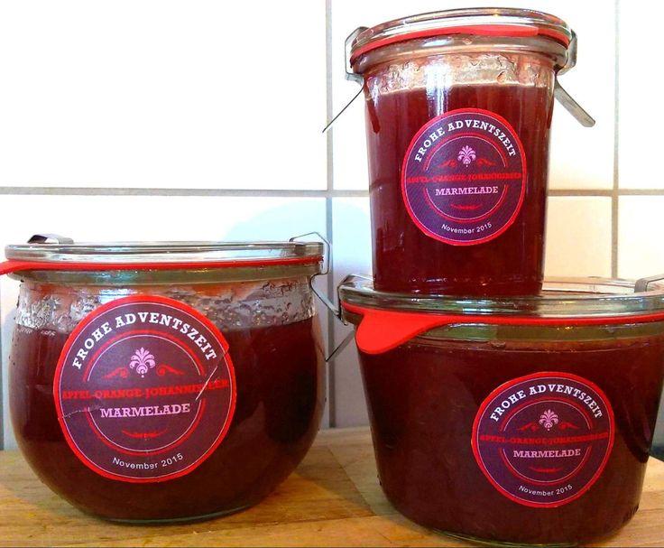 Rezept MARMELADE - Apfel + Orange + Schwarze Johannisbeere von Milopita - Rezept der Kategorie Saucen/Dips/Brotaufstriche