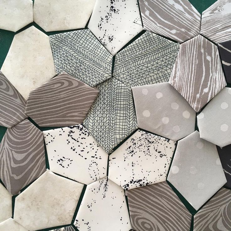Irregular hexagons. LOVE!