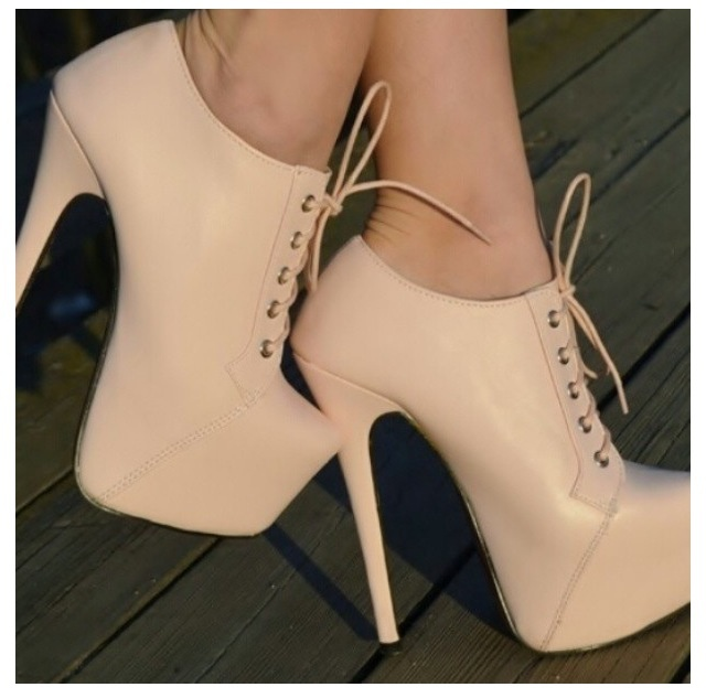 There are 12 tips to buy these shoes: high heels booties platform cream  girly beige nude booties cute nude heels lacing heels nude pumps ankle boot  heels . ...