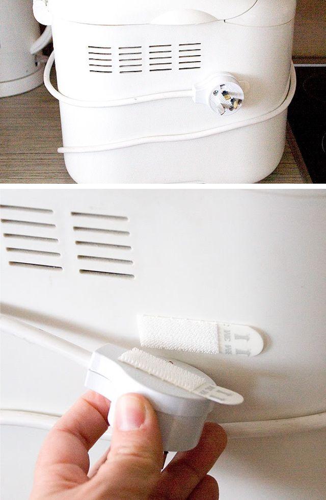 Organize Appliances Cords With Velcro|Random Tuesdays