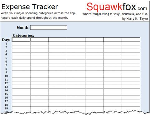 Free Spreadsheet Downloads | Track your spending with the ...