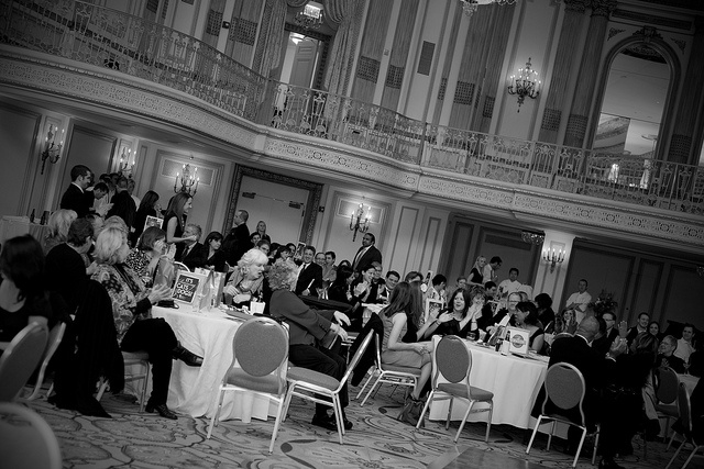 The grand ball room at the Palmer House