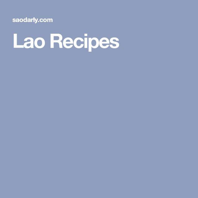 Lao Recipes