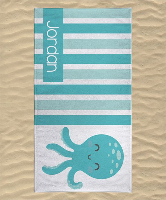 Octopus Personalized Towel