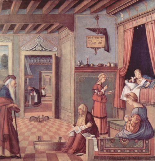 1504-1508 Vittore Carpaccio - The Birth of the Virgin
