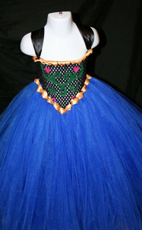 Princess Anna Inspired Tutu Dress Anna by LittleMissTrendyTutu