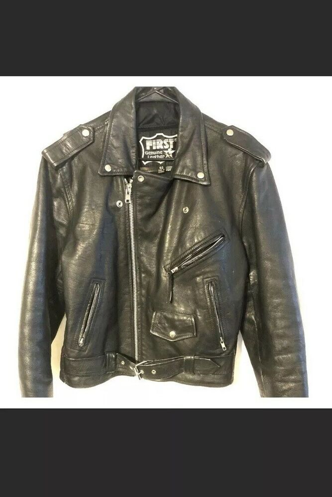 First Genuine Leather Black Leather Motorcycle Jacket Harley Davidson Size 40 L Fashion Clo Black Leather Motorcycle Jacket Leather Motorcycle Jacket Jackets
