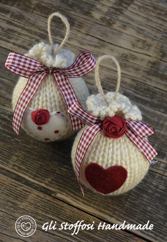 Palline di natale in stile country ornaments palline for Ornamenti casa
