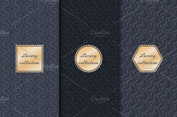 Set of luxury backgrounds - Illustrations