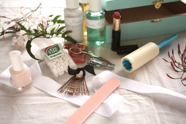 Bride's DIY kit. All the essentials she'll need (and probably forget) on D-day