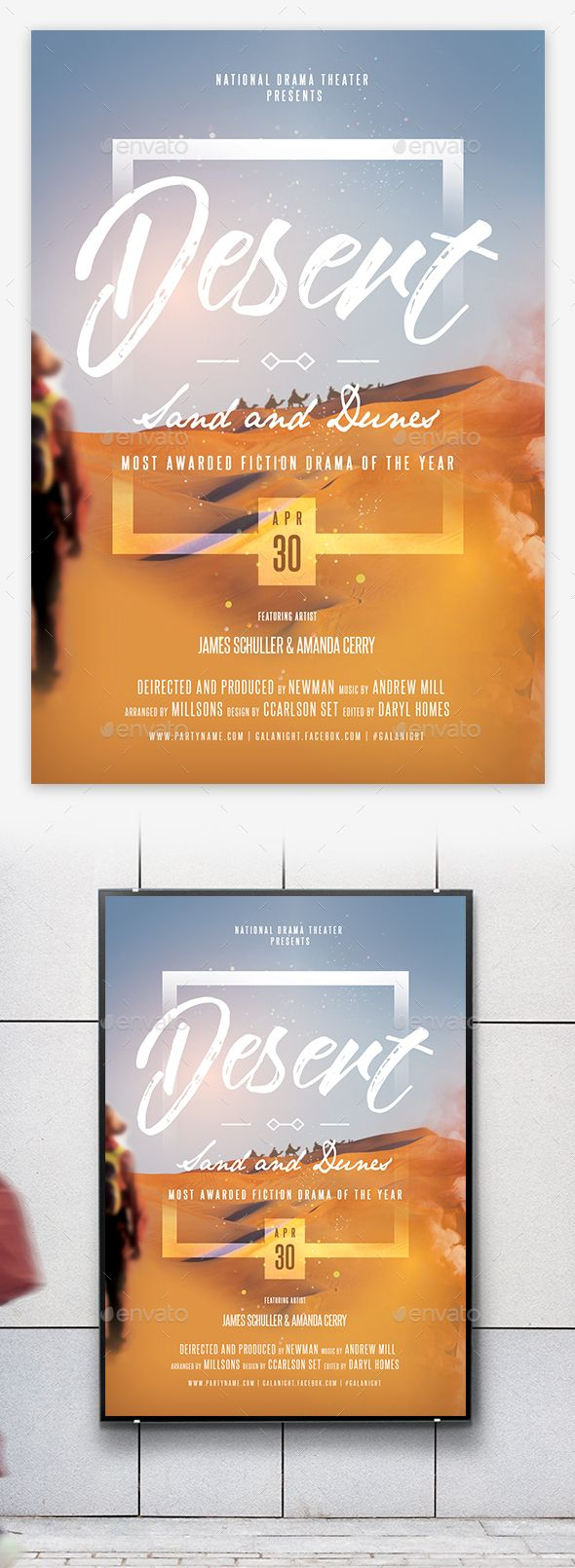 Theater Drama Promotion Flyer / Poster Template PSD