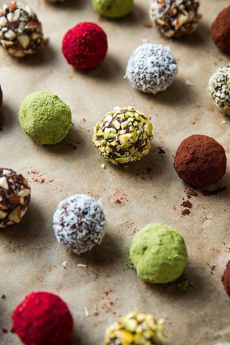 Chocolate Truffle Energy Bites {Raw, Vegan, Gluten-Free} | Will Cook For Friends