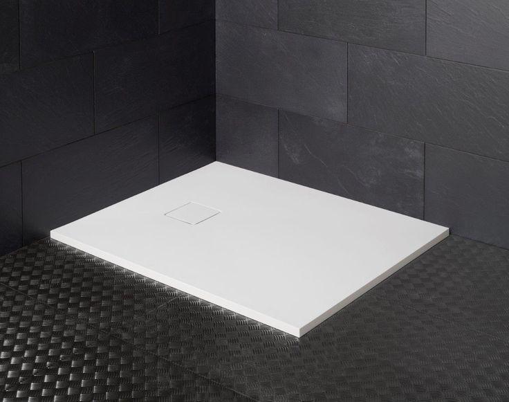 receveur de douche en solid surface stone finition blanc mat et touch satin a couper selon. Black Bedroom Furniture Sets. Home Design Ideas