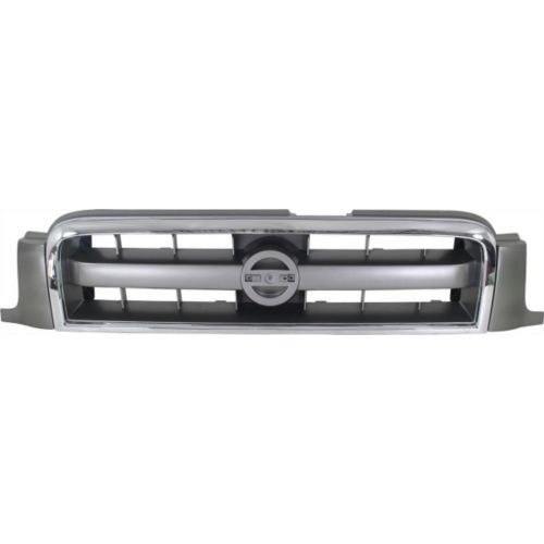 2003-2004 Nissan Pathfinder Grille, Chrome Shell/gray
