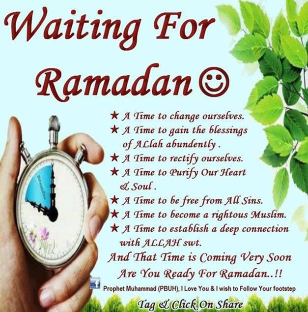 Waiting for Ramadhan in sha Allah :)