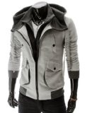 TheLees Mens Casual Slim Fit Hood Cotton Jacket