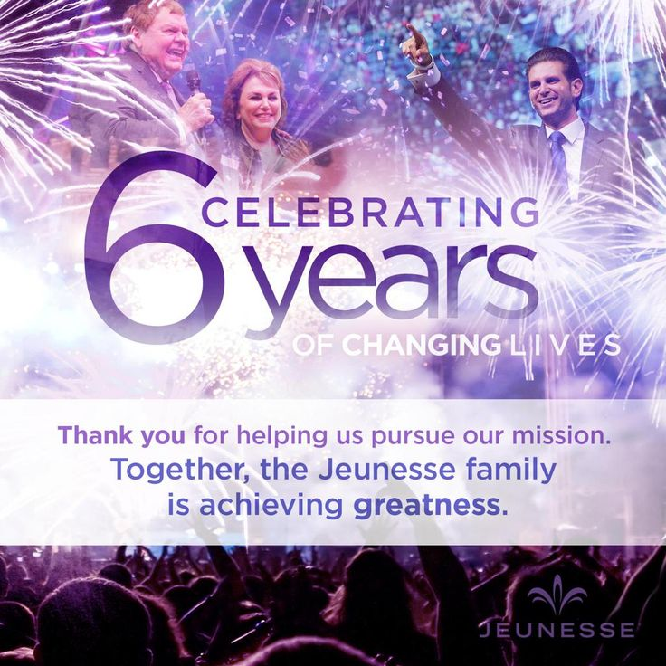 As we kick off EXPO6 and celebrate our 6th anniversary, we'd like to say THANK YOU to our entire Jeunesse family!
